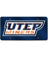 NCAA Rico Tag Express UTEP Miners Acrylic Laser Tag License Plate - $18.95
