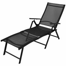 vidaXL Sunlounger Aluminum Folding Textilene Reclining Daybed Chaise Lounge - $95.99