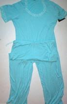 NWT New Designer Natori XS Light Blue Lace Trimmed Pajamas PJ Modal Shor... - $130.00