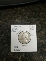 1942-S Washington Silver Quarter!!! Nice Coin!!! 90% Silver!!! - $5.94
