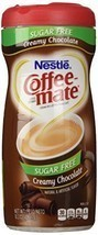 Nestle Coffee Mate Sugar Free Powdered Creamer Chocolate, 10.2 OZ Pack of 6 - $50.90