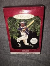 Hallmark Keepsake Christmas Ornament 1997 At the Ballpark #2 Hank Aaron Baseball - $10.88