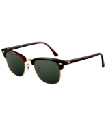 Ray Ban RB3016 Clubmaster W0366 Tortoise Frame/Green Classic Lense 49mm ... - $64.99
