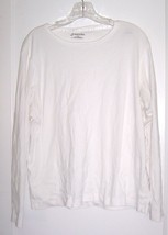 Size XL - St. John's Bay White Long Sleeve 100% Cotton Ribbed Top - $23.74