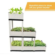 Raised Garden Bed, Vertical Garden, 6 Container Boxes of 15x15x9in, Elev... - $243.56 CAD
