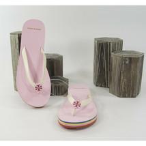 Tory Burch Mini Minnie New Ivory Preppy Pink Rubber Flip Flop Sandals 7 NIB - $93.56