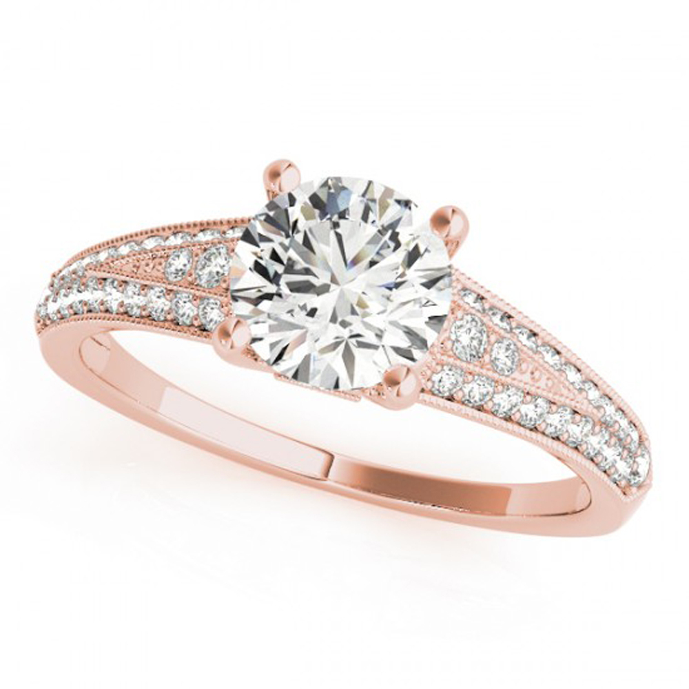 Primary image for Beautiful Engagement Ring 14k Rose Gold Over 925 Pure Silver Round Cut White CZ