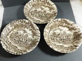 Vtg Set Of 3 Royal Mail Fine Staffordshire Ironstone Fruit Bowls - $21.88