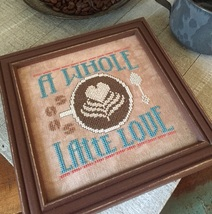 A Whole Latte Love #1 Cool Beans series cross stitch chart Hands On Design  - $5.40
