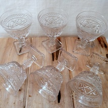 Imperial Glass Cape Cod Clear Set of 6 Champagne Stems Glasses image 3