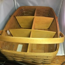 Longaberger 1992 Medium Gathering Basket w/ Protector and Dividers - $48.95