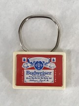 Budweiser Breweriana Beer Limit Graph Key Chain Ring Collectors Item Vin... - $28.50