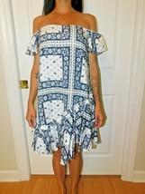 Cinq à Sept - Minella Off-The-Shoulder Scarf-Print Dress - Size 2 NWT image 2