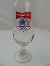 """Budweiser Beer Los Angeles 1984 Olympics 7"""" Glass Stemmed Barware - $4.94"""