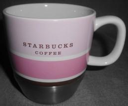 2007 Starbucks STAINLESS STEEL & CERAMIC 10 oz Handled Mug - $19.79