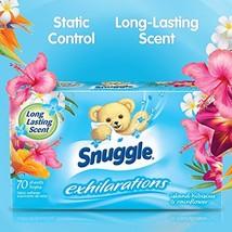 Snuggle Exhilarations Fabric Softener Dryer Sheets Island Hibiscus Laund... - $6.84
