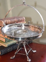 REED & BARTON ANTIQUE VICTORIAN BRIDE BASKET COMPOTE SILVERPLATE FIGURAL... - $129.99