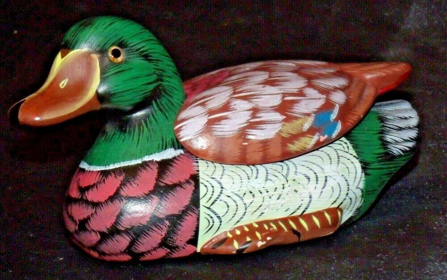 Duck Figurine (Jewelry Box ) AA20-2060 Vintage