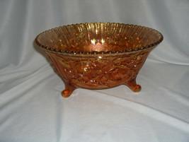 Vintage Imperial Carnival Glass Marigold Cabbage Lustre Rose Large Bowl ... - $74.25