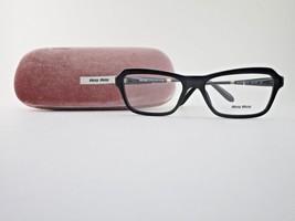 Miu Miu VMU 02N 1AB-1O1 Optical Frame Black & Marbled-Gold Eyeglasses - $84.11