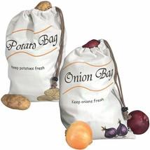 Miles Kimball Potato & Onion Sprout-Free Vegetable Storage Bags - White - $12.43