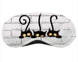 Sleeping mask travel flight plane dude black cats withcraft