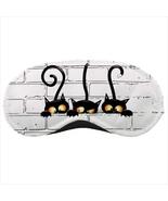 Sleeping mask travel flight plane dude black cats withcraft - $14.00