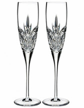 Waterford Crystal Love Forever Champagne Flute Pair #40003418 New - $154.90