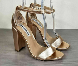 Steve Madden Carrson Sandal, Rose gold Leather, Womens Size 7 M - $33.59