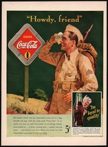 Vintage magazine ad COCA COLA from 1942 soldier and diamond sign Sprite ... - $12.99