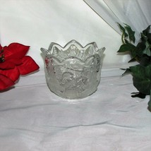 MIKASA CHRISTMAS STORY GLASS CANDLE HOLDER HOLIDAY LANDSCAPE BOY FROSTED... - $4.99