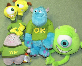 "Disney MONSTERS INC University Plush LOT Stuffed Animals TALKING SULLY 8"" to 15"" image 1"