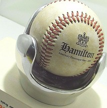 HAMILTON WATCH CO. MEMORABILIA BASe BALL & STAND RARE VINTAGE USA - $186.07