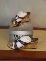 New In Box Franco Sarto Chocolate Kid Wedge Sandals Size 5.5 - $35.60