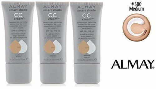 Almay Smart Shade CC Cream Complexion Corrector SPF35 #300 MEDIUM (PACK OF 3) Pl - $39.19