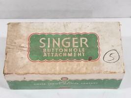 Vintage Singer Buttonhole Sewing Machine Attachment w Box # 121795 - $35.34