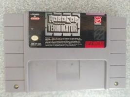 Robocop Vs Terminator (Super Nintendo SNES) Cart Only tested - $12.86