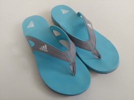 c2d4a2e42 Adidas Womens Size 8 Blue Slide Slippers Flipflop Thong Sandals -  18.69