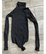 Commando One Size Bodysuit Ballet Shapewear Black Turtleneck Stretch Women NWOT - $49.95