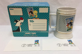 NOS Looney Tunes Daffy Duck Stein Mug 1999 $ Pair 1st Day Issue Stamp Collection - $15.98
