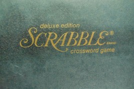 1977 Scrabble Deluxe Edition Complete Red Tiles Turntable  - £23.56 GBP