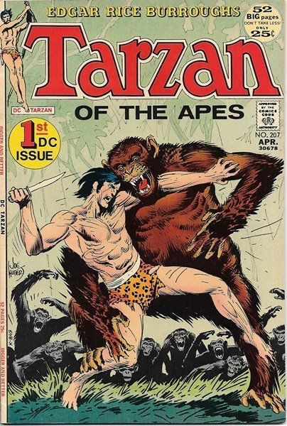 Primary image for Tarzan Comic Book #207, First DC Comics Issue 1972 VERY FINE+