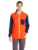 Large KAVU Women's Northwest Breaker Hooded Full Zip Stretch Hoodie Jacket Blaze