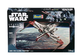 Star Wars ARC-170 Clone Fighter  1/83 Level 3 Revell Model Kit - $16.82