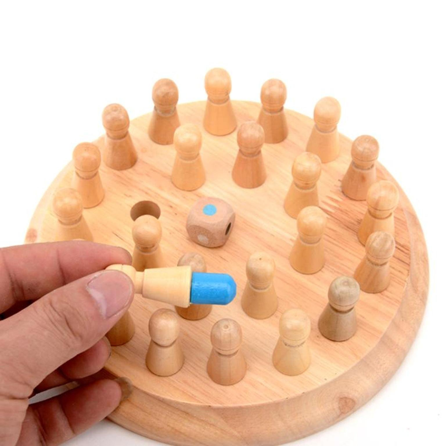 Kids Wooden Memory Match Stick Chess Game Children Early Educational 3D Puzzles