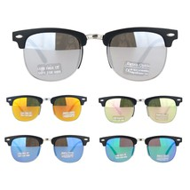 Boys Child Size Color Mirror Lens Hipster Half Rim Sunglasses - $9.95