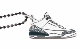 Good Wood Nyc Weiß Zement 0.9ms Sneaker Halskette Weiß/Grau/Schwarz III Kicks