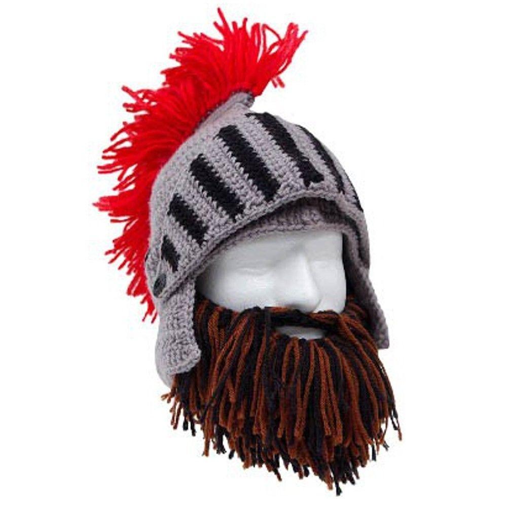 0dceac9a4c3ca S l1600. S l1600. Roman Helmet Barbarian Knight MIX Thermal Knit Beard Ski  Mask With Winter Hat
