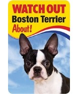 BOSTON TERRIER 3D  DOG SIGN - $5.23