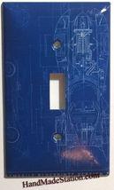 Batman Batmobile Car Blueprint Light Switch Outlet wall Cover Plate Home Decor image 1